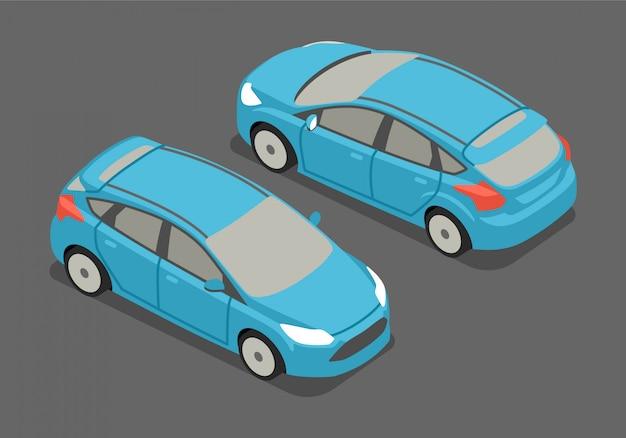 Illustrazione vettoriale isometrica auto