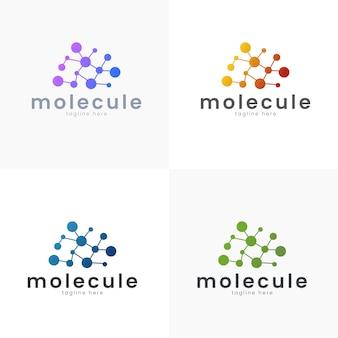 Illustrazione vettoriale logo concetto di scienza e medico modello semplice e stile gradiente