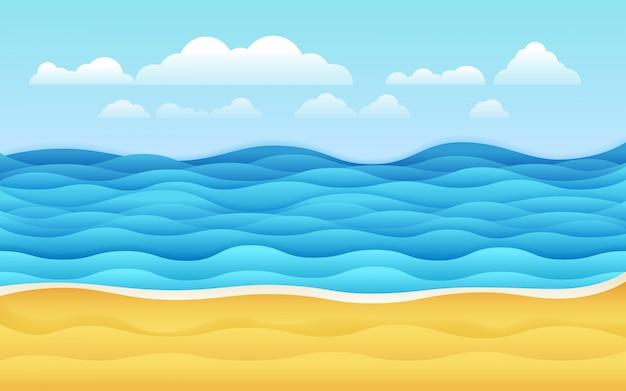 Illustrazione vettoriale mare sfondo vettoriale tropicale