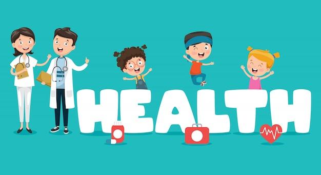 Illustrazione vettoriale medica e assistenza sanitaria
