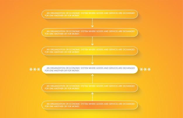 Illustrazione vettoriale per diagrammi infografica