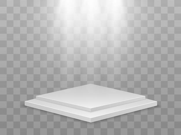 Illustrazione vettoriale realistica di una piattaforma 3d un luogo per stabilire qualcosa.