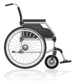 Illustrazione vettoriale sedia a rotelle