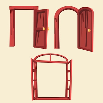 Illustrazione vettoriale set porta