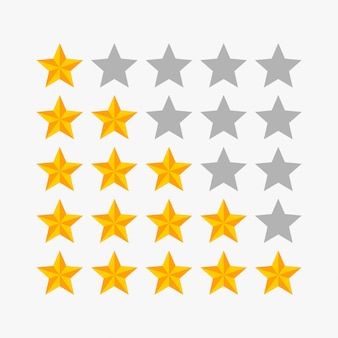 Illustrazione vettoriale stella di valutazione