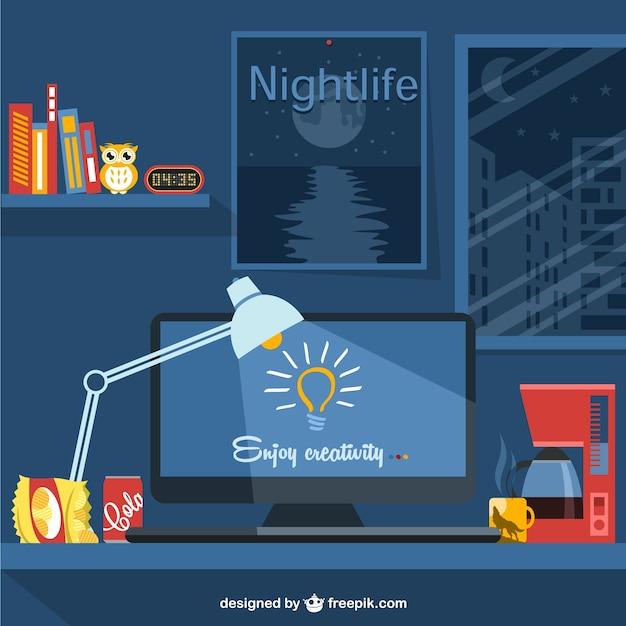 Illustrazione vettoriale stile di vita del progettista