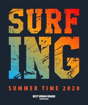 Illustrazione vettoriale sul tema del surf rider