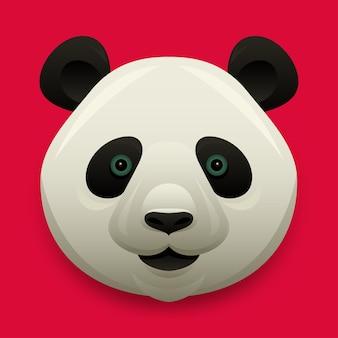 Illustrazione vettoriale testa di panda carino
