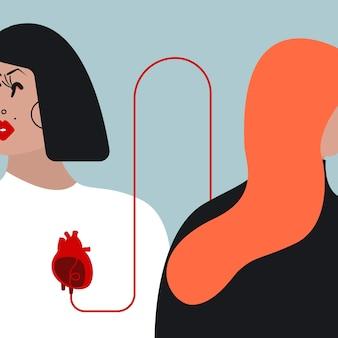 Illustrazione vettoriale trasfusione di sangue colorato