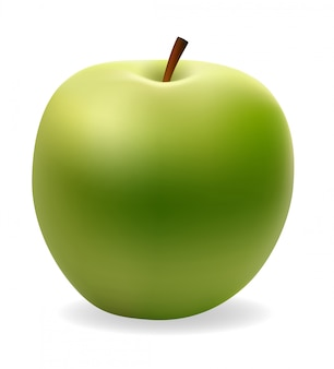 Illustrazione vettoriale verde mela
