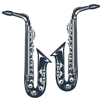 Illustrazione vettoriale vintage di una tromba