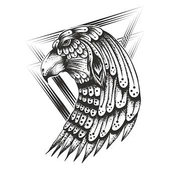 Illustrazione vettoriale vintage eagle head