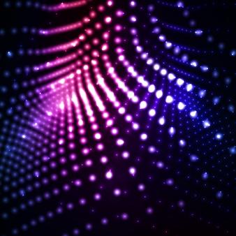 Illustrazioni astratte al neon della luce.