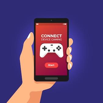 Illustrazioni concetto gioco in streaming