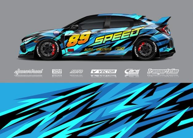 Illustrazioni di livrea di auto da corsa