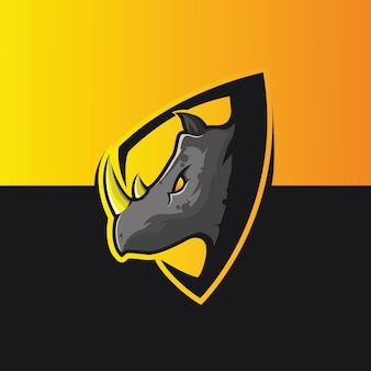 Illustrazioni di scudo di rinoceronte