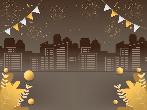 Illustrazioni di sfondo del nuovo anno