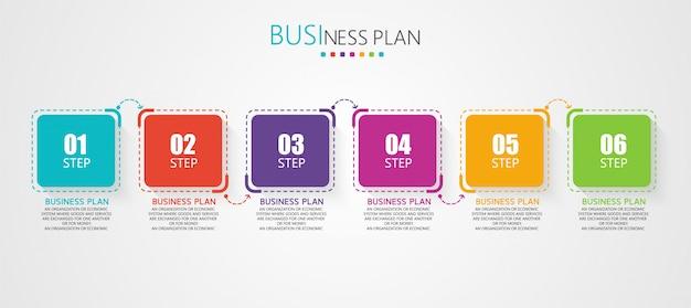 Illustrazioni educative di pianificazione aziendale dei diagrammi