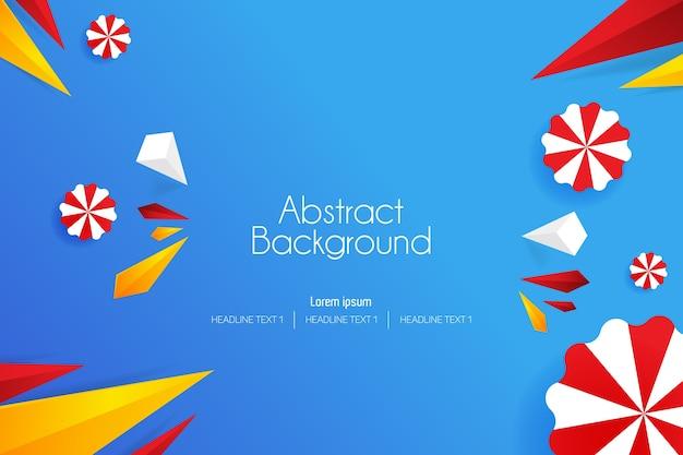 Illustrazioni funky di vettore di arte del fondo astratto 3d