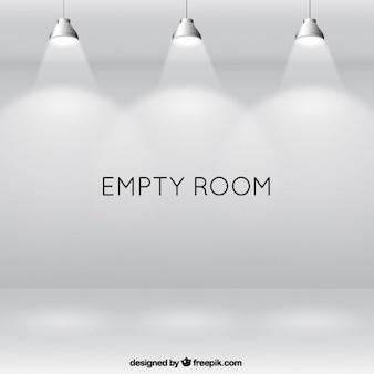 Iluminated stanza vuota con faretti