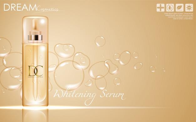 Imballaggio cosmetico per la cura della pelle del siero