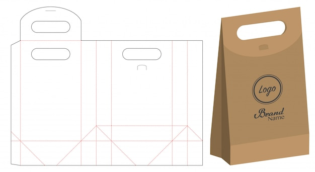 Imballaggio del sacchetto di carta fustellato