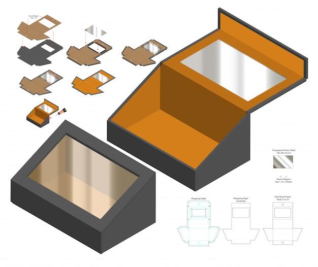 Imballaggio della scatola fustellato