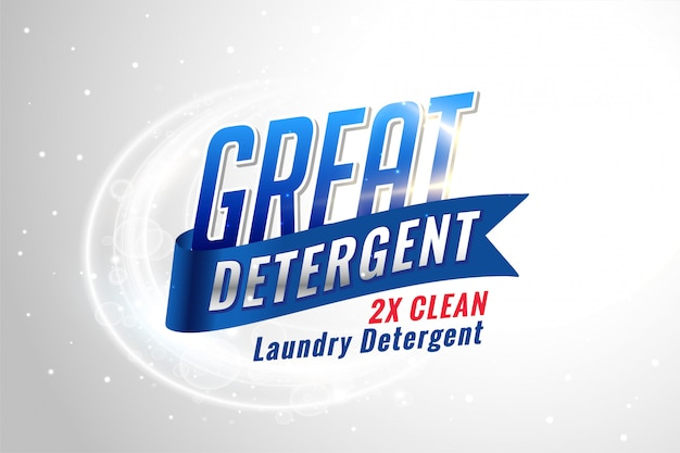 Imballaggio detergente per bucato per tessuti puliti
