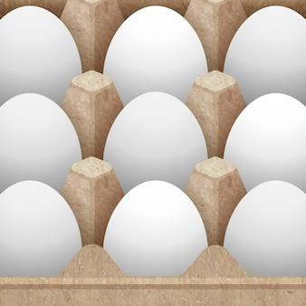 Imballaggio di carta del cartone dell'uovo progettato con l'illustrazione delle uova