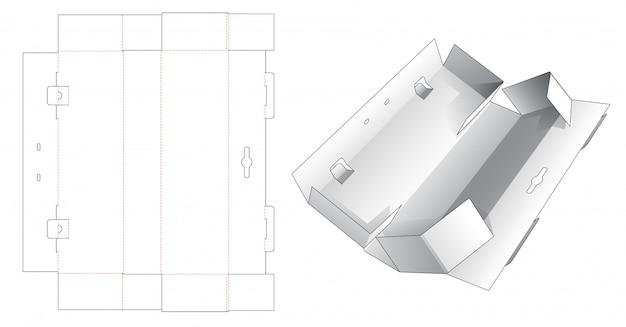Imballaggio ondulato con modello fustellato supporto