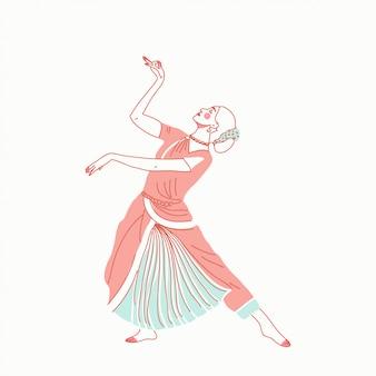 Imdian ragazza che balla