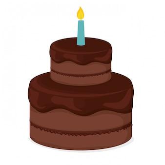 Immagine clipart della torta di compleanno