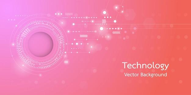 Immagine concettuale del fondo di tecnologia digitale 3d.