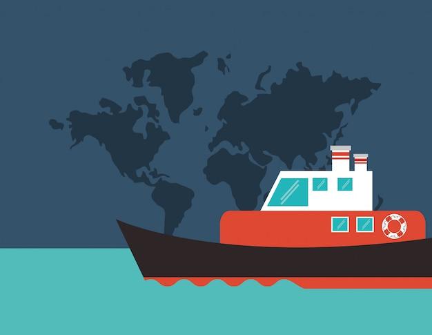 Immagine dell'emblema della nave o della barca