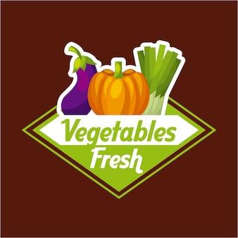 Immagine dell'emblema della verdura fresca