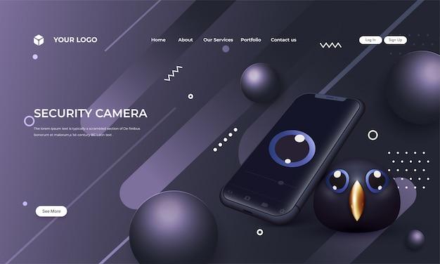 Immagine della telecamera di sicurezza di prossima generazione,