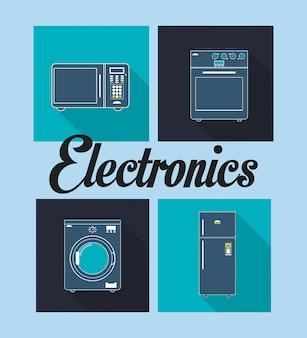 Immagine di apparecchi elettronici domestici