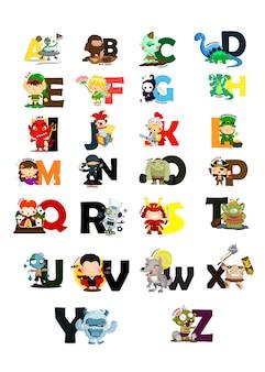 Immagine di carattere alfabeto impostato