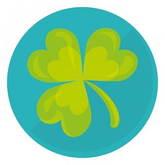 Immagine di clip-art trifoglio o shamrock