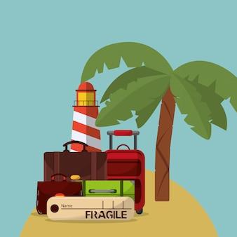 Immagine di icone di vacanza vacanze o vacanze correlate