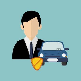 Immagine di icone relative ai servizi di assicurazione