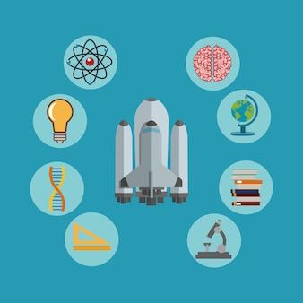 Immagine di icone relative alla scienza