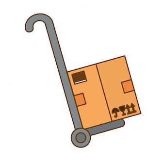 Immagine di icone relative alla spedizione o al carico del carico