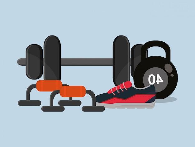 Immagine di icone relative allo stile di vita fitness