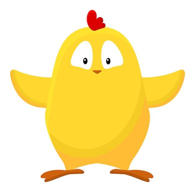 Immagine di pollo simpatico cartone animato giallo