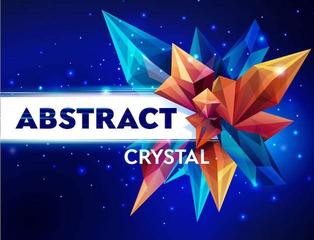 Immagine di un cristallo sfaccettato