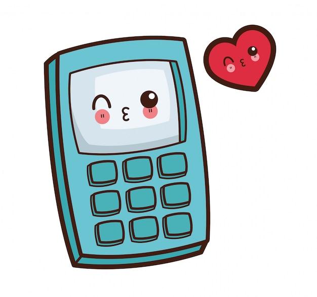 Immagine di wink calcolatrice kawaii