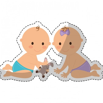Immagine icona bambino felice
