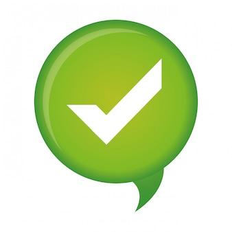 Immagine icona del segno di spunta
