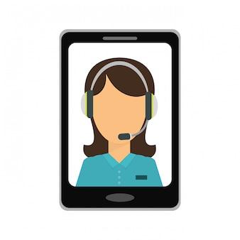 Immagine icona di servizi tecnici smartphone